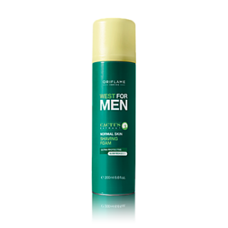 Spuma de ras pentru ten normal West for Men 200 ml